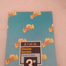 Libros: LIBRO CIENCIAS SOCIALES 3 E.G.B ANAYA. Lote 243567710