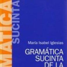 Libros: GRAMÁTICA SUCINTA DE LA LENGUA INGLESA. Lote 245219440