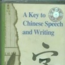 Libros: A KEY TO CHINESE SPEECH AND WRITING1. Lote 245595490
