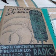 Libros: CURSO COMPLETO DE RADIOELECTRICIDAD. Lote 247762785