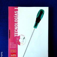 Libros: TECNOLOGÍAS I - ESO - SECUNDARIA - POR; MARTÍN, CARRASCAL, TOLEDO Y GARCÍA - SM - NUEVO - CON CD. Lote 251412485