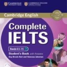 Libros: COMPLETE IELTS BANDS 6.5-7.5 STUDENTS BOOK WITH ANSWERS WITH CD-ROM WITH TESTBANK. Lote 254545310