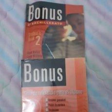 Libros: BONUS - CON FICHAS DE AYUDA AL ALUMNADO. Lote 254642170