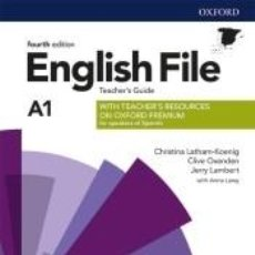 Libros: ENGLISH FILE 4TH EDITION A1. TEACHERS GUIDE + TEACHERS RESOURCE PACK. Lote 262734995