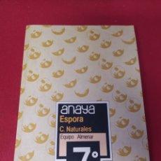 Libros: LIBRO ESPORÁDICAS C. NATURALES 7 E.G.B. ANAYA. Lote 265405994