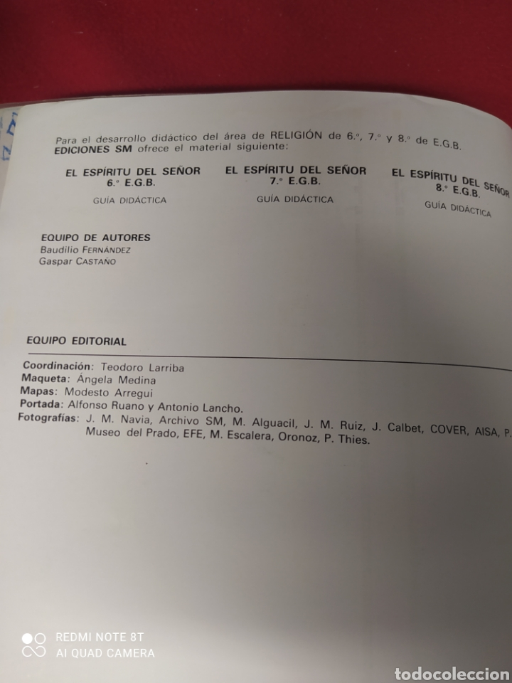Libros: LIBRO RELIGION CATÓLICA 8 E.G.B. - Foto 4 - 265406159
