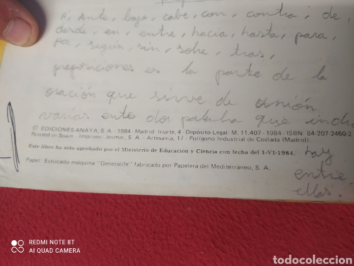 Libros: LIBRO LENGUA 5 E.G.B. ANAYA - Foto 3 - 265406289