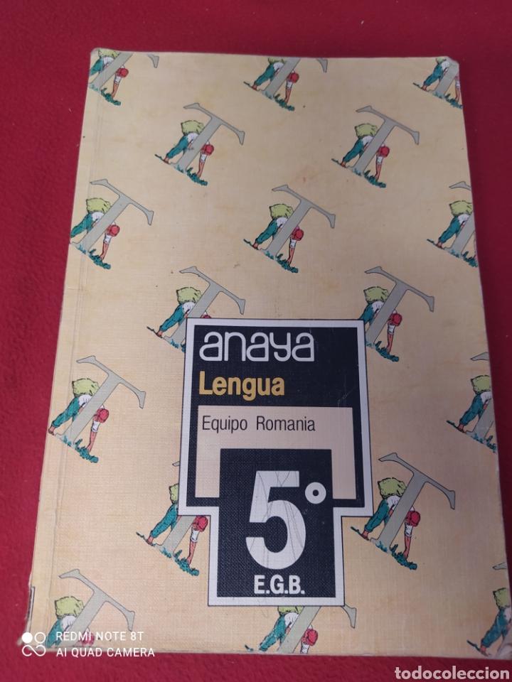 LIBRO LENGUA 5 E.G.B. ANAYA (Libros Nuevos - Libros de Texto - Infantil y Primaria)