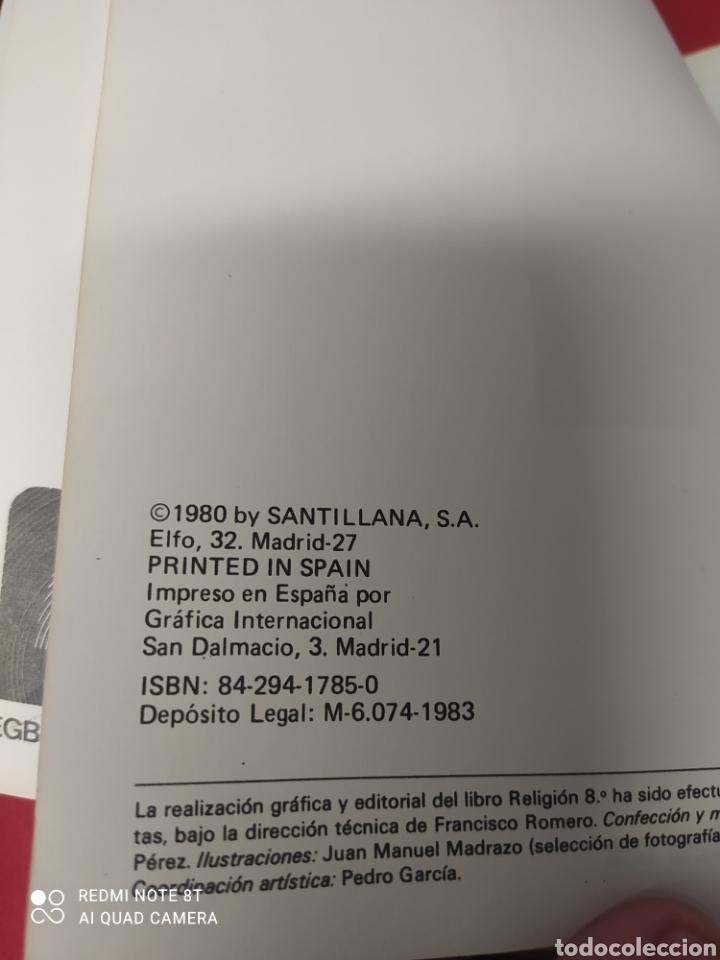 Libros: LIBRO RELIGION 8 E.G.B. SANTILLANA - Foto 3 - 265409574