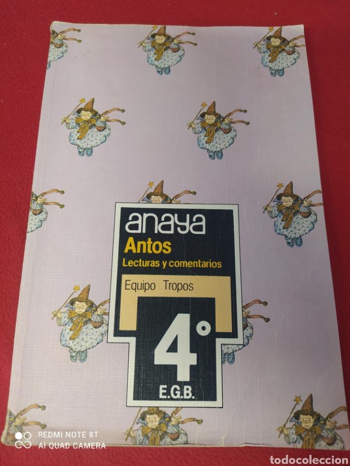LIBRO ANTOS 4 E.G.B. ANAYA (Libros Nuevos - Libros de Texto - Infantil y Primaria)
