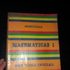 Libros: MATEMÁTICAS DE 1 EGB AÑOS 80. Lote 266059958
