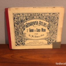 Libros: GEOGRAFIA -ATLAS- 1936-G.M-BRUÑO .-LIBRO ESCOLAR. Lote 267159359