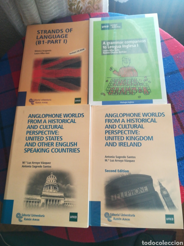 LOTE LIBROS UNED ESTUDIOS NORTEAMERICANOS Y OTROS (Libros Nuevos - Libros de Texto - Ciclos Formativos - Grado Medio)