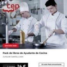 Libros: PACK DE LIBROS OPOSICIONES AYUDANTE DE COCINA JUNTA DE CASTILLA Y LEÓN. Lote 268289709