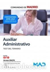 AUXILIAR ADMINISTRATIVO. TEST DEL TEMARIO. COMUNIDAD AUTÓNOMA DE MADRID (Libros Nuevos - Libros de Texto - Infantil y Primaria)