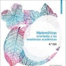 Libros: LA MATEMATICAS 4 ESO ACADEMICAS. Lote 269066223