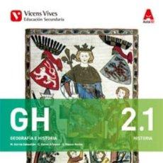 Libros: 2º ESO - GEOGRAFÍA E HISTORIA 2.1 Y 2.2 - REGIÓN DE MURCIA - VICENS VIVES. Lote 269201483