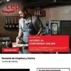 Libros: PACK LIBROS + CONTENIDO ONLINE. PERSONAL DE LIMPIEZA Y COCINA. XUNTA DE GALICIA. Lote 271081723
