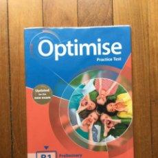 Libros: ESO - INGLÉS - OPTIMISE PRACTICE TEST. Lote 275106773