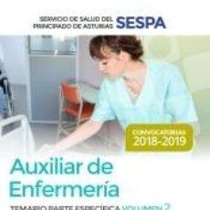 Libros: AUXILIAR DE ENFERMERÍA DEL SERVICIO DE SALUD DEL PRINCIPADO DE ASTURIAS (SESPA). TEMARIO PARTE. Lote 277441598