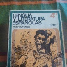 Libros: LENGUA Y LITERATURA ESPAÑOLA 4* ANAYA. Lote 277680838