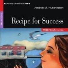 Libros: RECIPE FOR SUCCESS. Lote 277715218