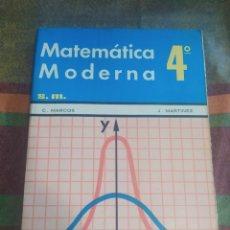 Libros: MATEMÁTICAS MODERNA 4 E.G.B.. Lote 278173228