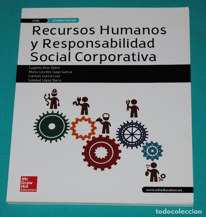 RECURSOS HUMANOS Y RESPONSABILIDAD SOCIAL CORPORATIVA (Libros Nuevos - Libros de Texto - Ciclos Formativos - Grado Superior)