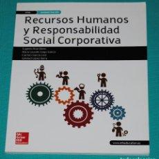 Libros: RECURSOS HUMANOS Y RESPONSABILIDAD SOCIAL CORPORATIVA. Lote 286974293