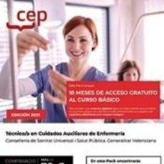 Libros: PACK DE LIBROS + CURSO BÁSICO. TÉCNICO/A EN CUIDADOS AUXILIARES DE ENFERMERÍA. CONSELLERIA DE. Lote 288019948