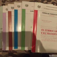 Libros: CURSO FERROCARRILES (CUADERNO L - LL- LLL-LV- V). Lote 289396843