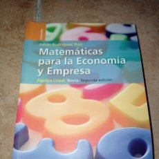 Libros: MATEMÁTICAS PARA LA ECONOMÍA Y EMPRESA. Lote 290272728
