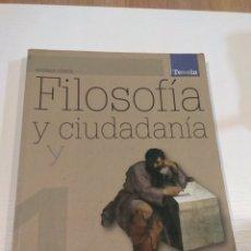 Libros: FILOSOFÍA Y CIUDADANÍA. 1 BACHILLERATO. EDITORIAL TESELA. ISBN 978-84-673-3845-4. Lote 296888613