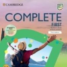 Libros: COMPLETE FIRST STUDENTS PACK B2 (STUDENTS BOOK WITHOUT ANSWERS AND WORKBOOK WITHOUT ANSWERS). Lote 297024788