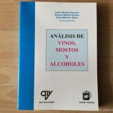Libros: ANÁLISIS DE VINOS, MOSTOS Y ALCOHOLES. Lote 59523563
