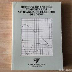 Libros: MÉTODOS DE ANÁLISIS COMUNITARIOS SECTOR VINO. Lote 59523959
