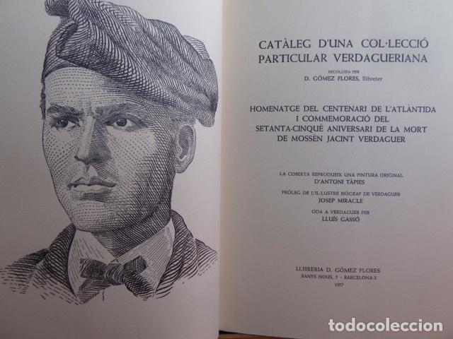 CATALEG D,UNA COL-LECIO PARTICULAR VERDAGUERIANA SOBRE J,VERDAGUER PORTADA A.TAPIES (Libros Nuevos - Ocio - Vinos)