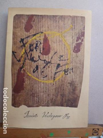 Libros: CATALEG D,UNA COL-LECIO PARTICULAR VERDAGUERIANA SOBRE J,VERDAGUER PORTADA A.TAPIES - Foto 2 - 99382743