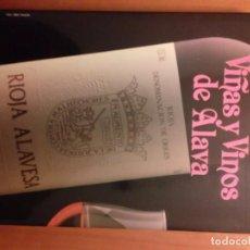 Libros: VIÑAS Y VINOS DE ÁLAVA DE GONZÁLEZ LARRAINA, MIGUEL . Lote 133106942