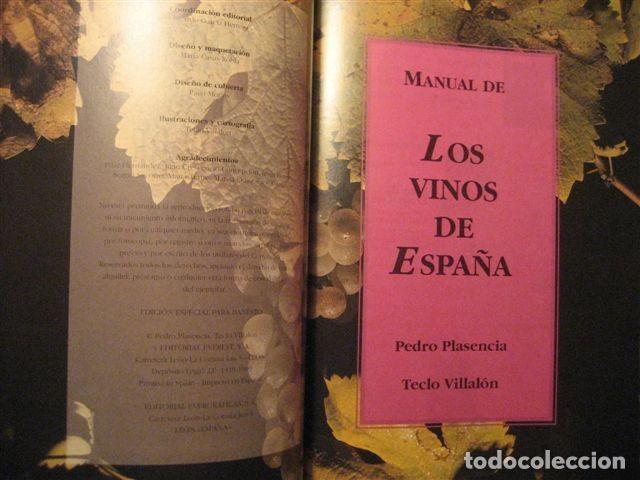 Libros: LIBRO SOBRE LOS VINOS DE ESPAÑA (Pedro Plasencia - Teclo Villalón) - Foto 2 - 135664299