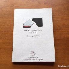 Libros: LIBRO - BREVE INTRODUCCIÓN A LA CATA. Lote 138516117