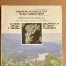 Libros: CATASTRO VITÍCOLA Y VINÍCOLA DENOMINACIÓN DE ORIGEN VALDEORRAS. MINISTERIO.. Lote 151286998