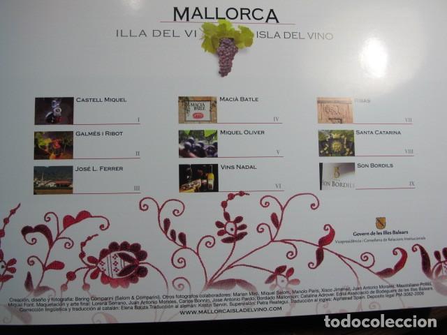 Libros: Mallorca Illa del vi. Isla del vino. 9 Bodegas de Mallorca. Govern de les Illes Balears, 2006 - Foto 2 - 152816902