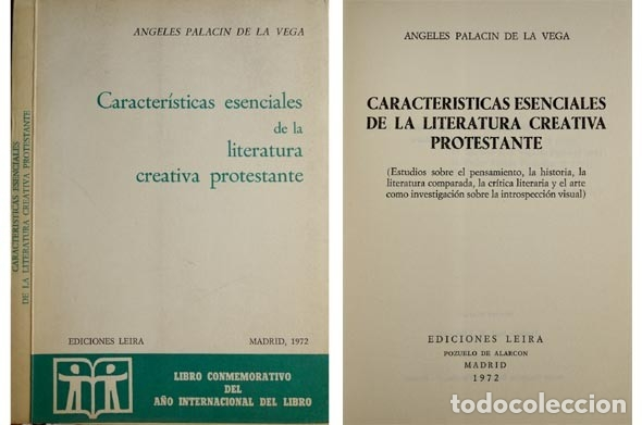 PALACÍN, ÁNGELES. CARACTERÍSTICAS ESENCIALES DE LA LITERATURA CREATIVA PROTESTANTE. ESTUDIOS... 1972 (Libros Nuevos - Ocio - Vinos)