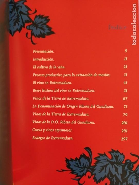 Libros: GUIA DEL VINO DE EXTREMADURA. 343 PAGINAS. CON ILUSTRACIONES. 2004. - Foto 7 - 222166482