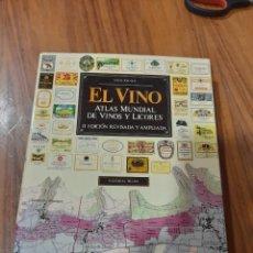 Livros: EL VINO, ATLAS MUDIAL DE VINOS Y LICORES, 1979. Lote 225059701