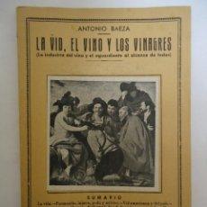 Libros: LIBRO DE LA VID , EL VINO Y LOS VINAGRES. DE ANTONIO BAEZA. EDICIONES IBERICA. Lote 225149480