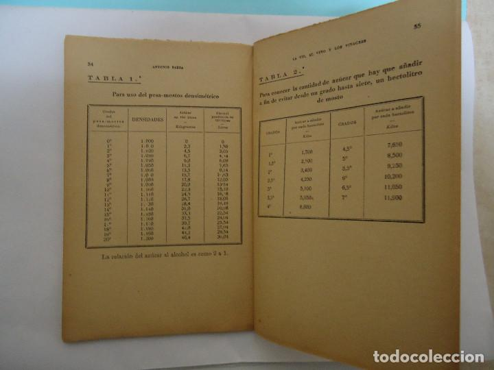 Libros: LIBRO DE LA VID , EL VINO Y LOS VINAGRES. DE ANTONIO BAEZA. EDICIONES IBERICA - Foto 3 - 225149480