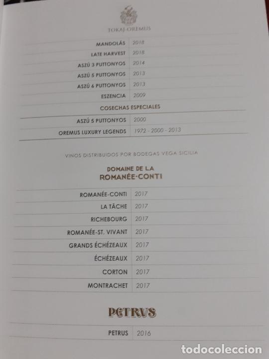 Libros: CATALOGO DE VINOS BODEGA VEGA SICILIA (AÑO 2020) - Foto 5 - 237886450