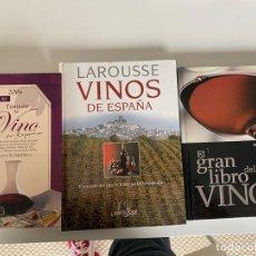 Libros: EL GRAN LIBRO DEL VINO.LAROUSSE VINOS DE ESPAÑA + 1 MÁS, VER FOTOS(4,31 ENVÍO CERTIFICADO). Lote 259903665